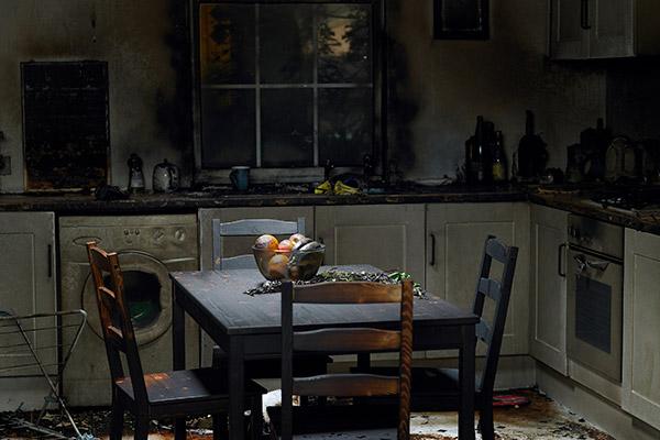 fire damage kitchen